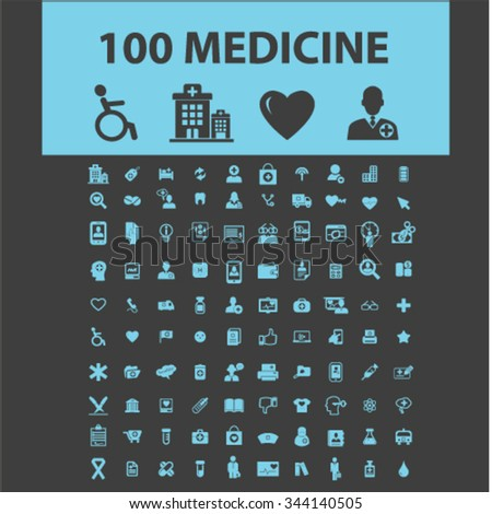 medicine research, medical technology  icons, signs vector concept set for infographics, mobile, website, application  - stock vector