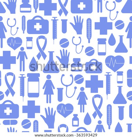 Medicine vector seamless pattern. Vector Illustration