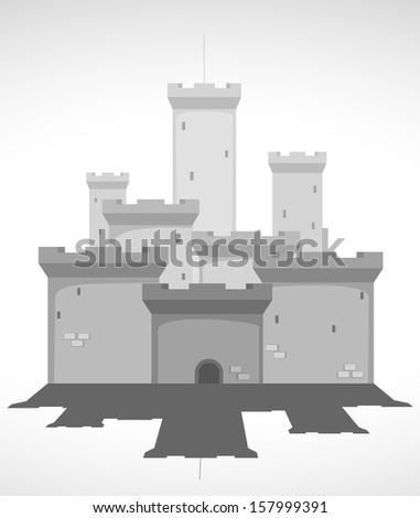 medieval castle. vector illustration 2 - stock vector