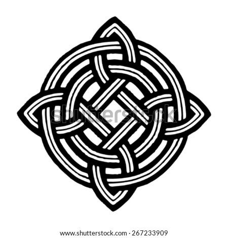 medieval celtic viking tattoo symbol - stock vector
