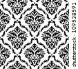 Medieval floral seamless in damask style for design. Jpeg version also available in gallery - stock photo