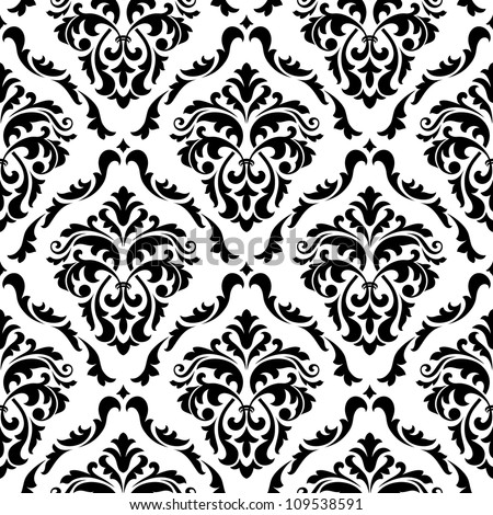 medieval floral seamless damask style design stock vector royalty