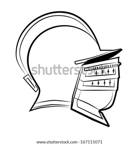 Helmet Outline Medieval Knight Helmet Outline