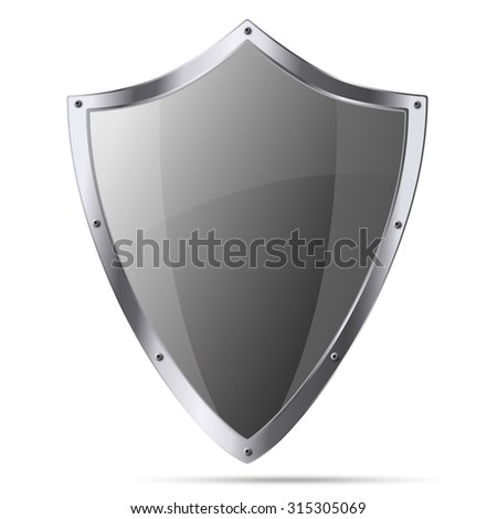 Medieval knight shield isolated on white background - stock vector