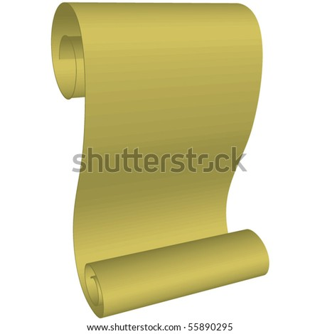 Medieval paper scroll - stock vector