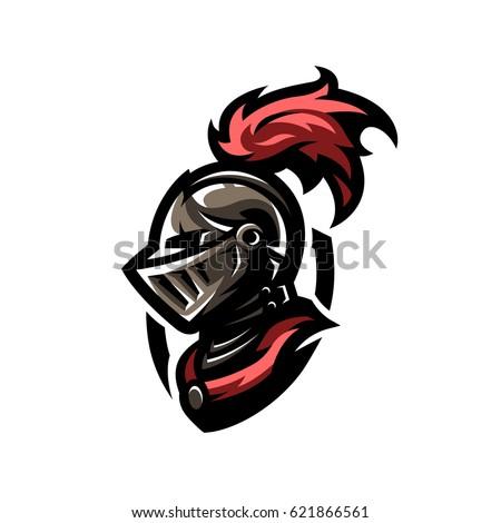 medieval warrior knight helmet logo emblem stock vector 621866561 rh shutterstock com ucf knight head logo blue knight head logo