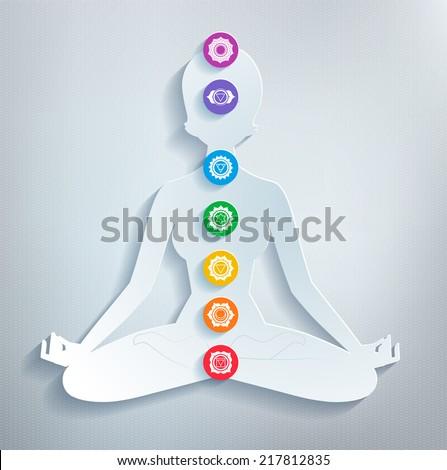 Meditation. Vector illustration. - stock vector