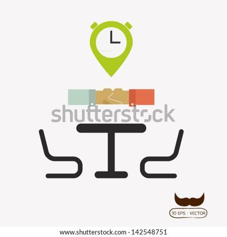 Meeting - stock vector