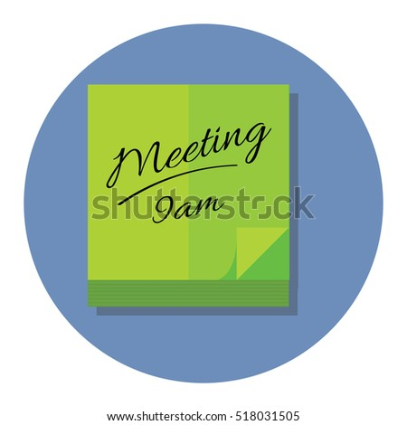 Meeting bag Icon Vector Illustration