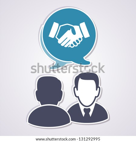 Meeting concept - stock vector