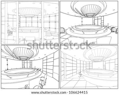Meeting Conference Room Vector 05 - stock vector
