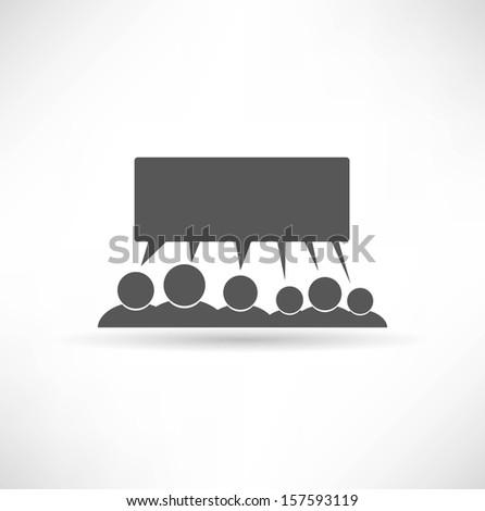 Meeting icon - stock vector