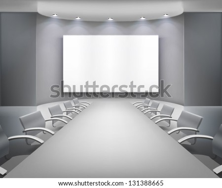 Meeting room. Vector illustration. - stock vector