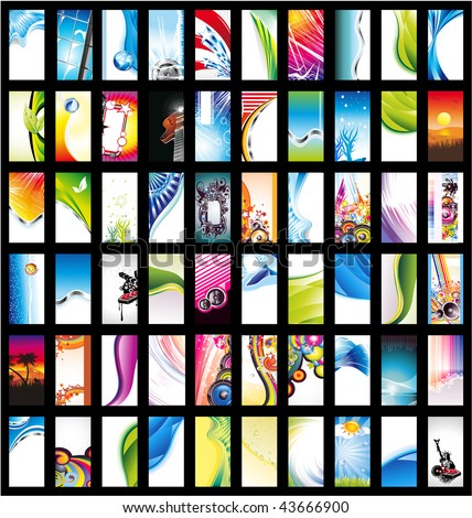 Mega Collection of Abstract Corporate Business Card - stock vector