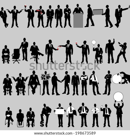 MEGA COLLECTION OF FORTY BUSINESS MAN 2 - stock vector