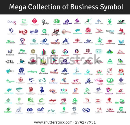 Mega Collection of Vector Fitness Logo Design - stock vector