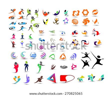 Mega Collection of Vector Logo Design - stock vector