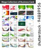 Mega collections vector business card set , elements for design. - stock vector