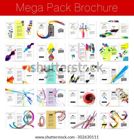 Mega pack Brochure design template set - stock vector