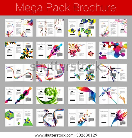 Mega pack Brochure design template set