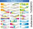 Mega set of vector Headers - stock vector