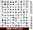 Mega sport icon set - stock vector