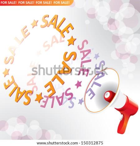 megaphone for sale - stock vector