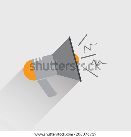 Megaphone icon - stock vector