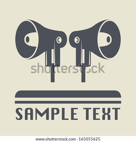 Megaphone icon or sign, vector illustration - stock vector