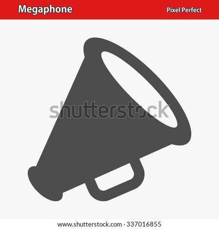 Megaphone Icon. Professional, pixel perfect icon optimized for both large and small resolutions. EPS 8 format.
