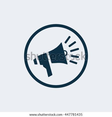 Megaphone icon, speaker sign,advertising icon, communication icon, marketing icon,business icon,propaganda icon - stock vector