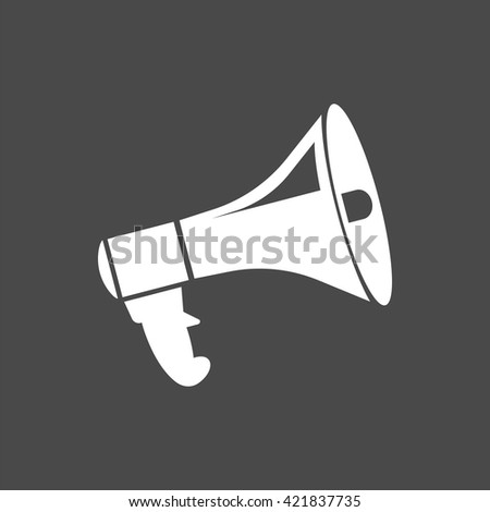 megaphone icon, vector announcement, isolated megafone sign - stock vector