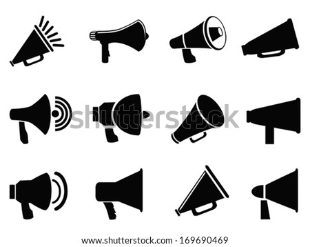 megaphone icons - stock vector