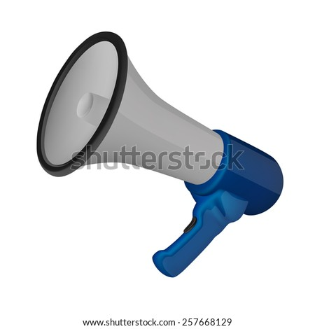 Megaphone isolated on white background - stock vector
