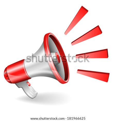 Megaphone isolated on white background, you can change the color in one click, vector - stock vector