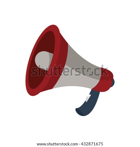 Megaphone isolated vector icon