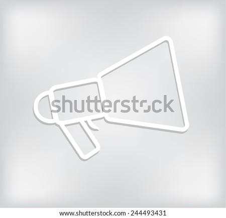megaphone, loudspeaker isolated symbol  - stock vector