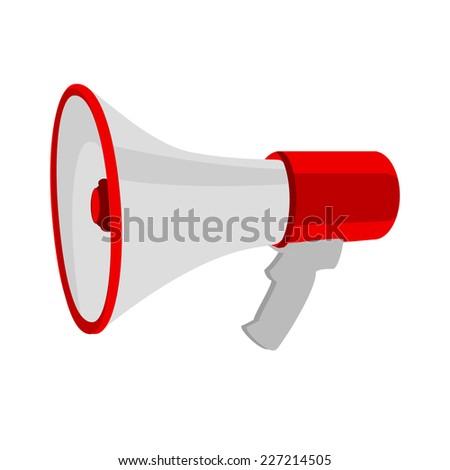 Megaphone, megaphone isolated, megaphone icon, megaphone vector - stock vector