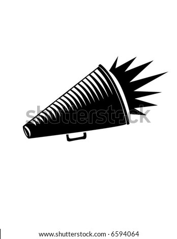 Megaphone shout-out - stock vector
