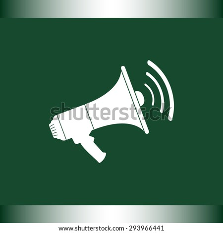 Megaphone sign icon, vector illustration. Flat design style