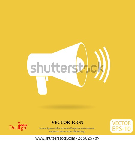 megaphone vector icon - stock vector