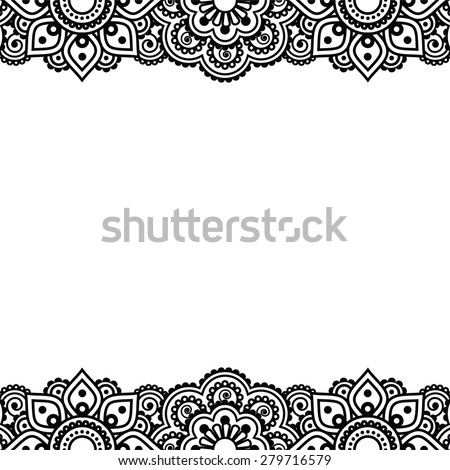 Henna Border Stock Images Royalty Free Images Amp Vectors