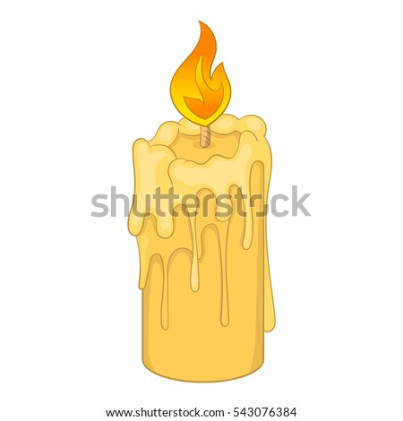 how to draw a melted candle