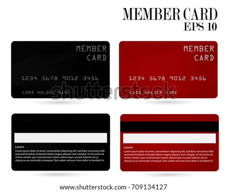 Member Card Business VIP Card Design Stock Vector HD (Royalty Free ...