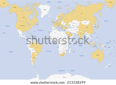 member states of G-20 - stock vector