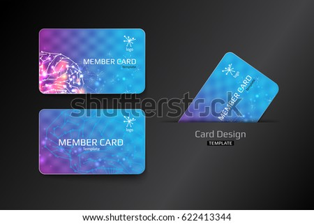 Member VIP And Business Card Template Design. Vector Illustration  Membership Card Design