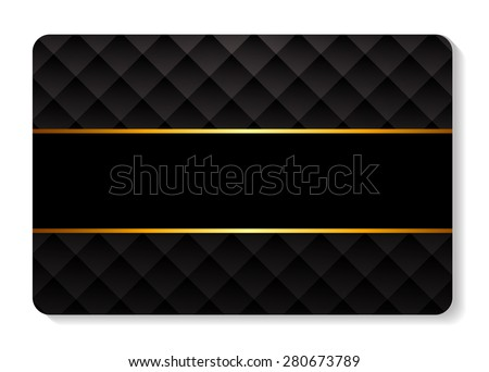 Members, Gift  Card Template Vector Illustration EPS10 - stock vector