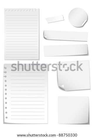 memo stick isolated on white - stock vector