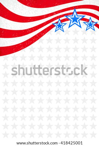 Memorial Day Background Stars Stripes Holiday Stock Vector ...