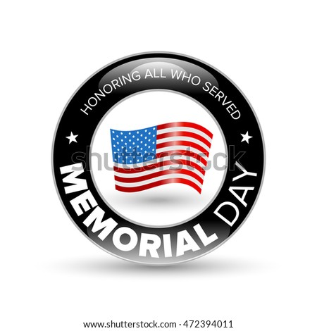 Memorial day badge